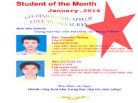 Danh hiệu học viên xuất sắc tháng 1/2014