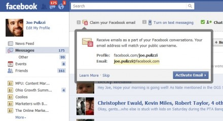 Facebook lặng lẽ khai tử dịch vụ email