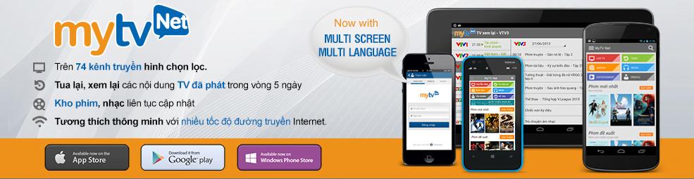 MyTV Net - ứng dụng xem truyền hình và phim trực tuyến