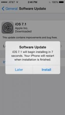 Hãy cài đặt iOS 7.1 nếu bạn dùng iPhone 4-6