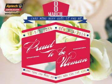 """Hanoi – Aptech nhộn nhịp không khí đón tuần lễ đặc biệt """"Proud to be Woman"""""""
