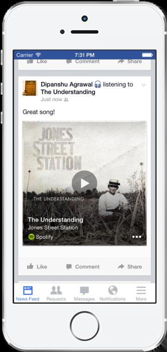 Với tính năng mới, Facebook sẽ cùng bạn nghe nhạc và xem tivi -1