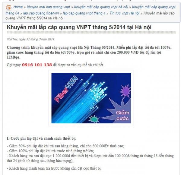 Nhà mạng giảm giá, phí cáp quang tương đương ADSL-2