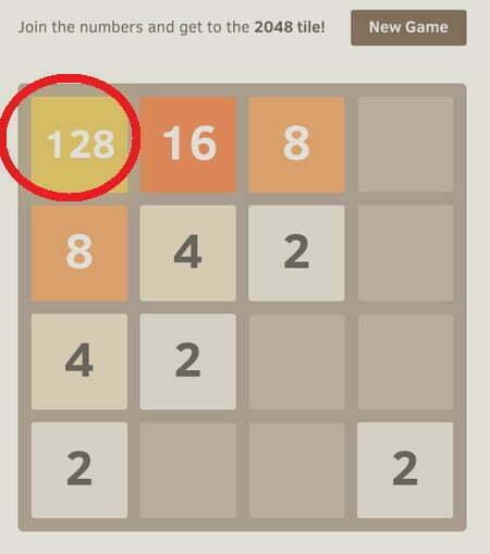 """Bí quyết """"phá đảo"""" game 2048 -2"""