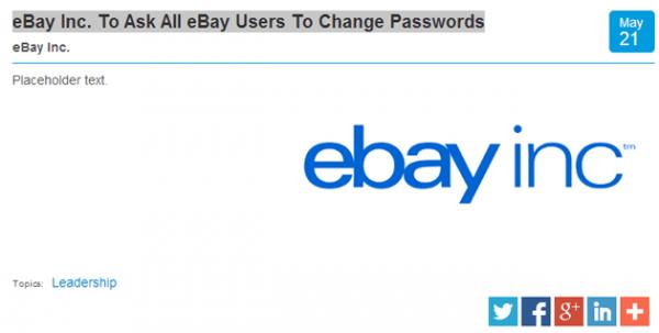 Bị tấn công an ninh mạng, eBay khuyên người dùng đổi mật khẩu-2