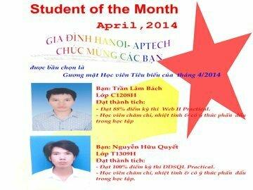 Read more about the article Danh hiệu học viên tiêu biểu tháng 4/2014
