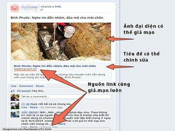 Cách nhận biết link tin giả mạo trên Facebook