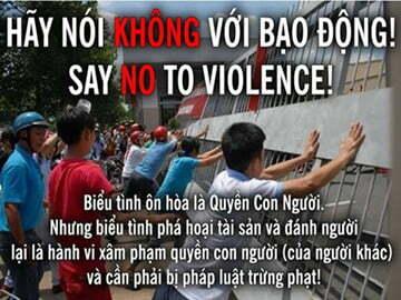 Read more about the article Cư dân mạng ủng hộ thông điệp tránh kích động khi phản đối Trung Quốc