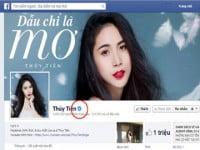 Facebook dành kí hiệu riêng cho trang cá nhân của Sao Việt