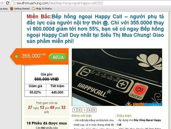 """Cảnh báo 2 website hạ giá """"ảo"""", bán sản phẩm hình thức mua chung -1"""