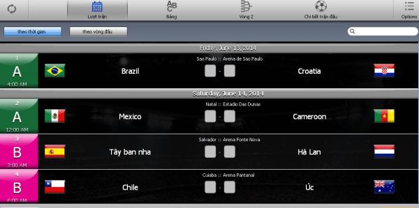 """World Cup """"thu nhỏ"""" với ứng dụng miễn phí iCup 2014 Brazil-2"""