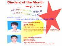 Danh hiệu học viên tiểu biểu tháng 5/2014