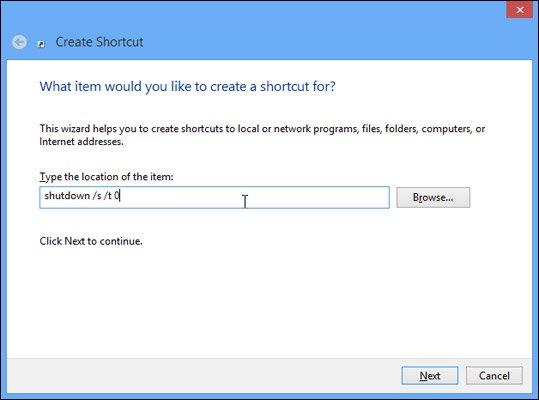 Tắt nhanh Windows 8 chỉ với một cú nhấp chuột-2