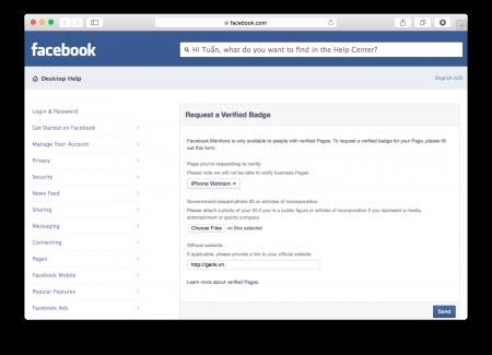 """Cách đăng kí """"chính chủ"""" cho Facebook hoặc Fanpage cá nhân-2"""