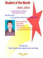 Danh hiệu học viên tiêu biểu tháng 7/2014