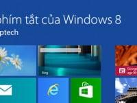 phím tắt nhanh trong windows 8