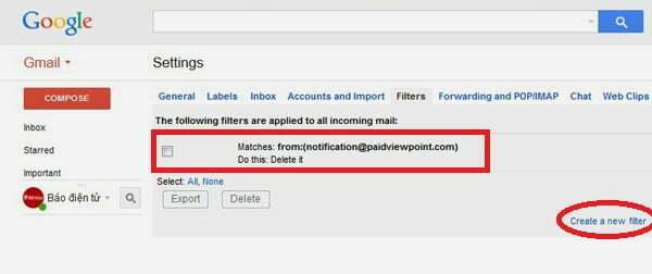 Tạm biệt thư rác Gmail với thủ thuật đơn giản-5