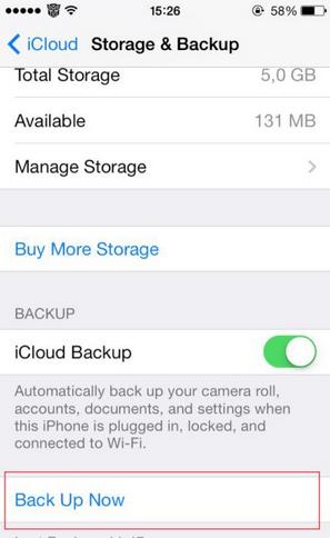Hướng dẫn sao lưu dữ liệu và cài đặt thiết bị lên iOS 8  -1