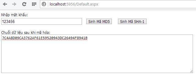 Hướng dẫn mã hóa dữ liệu với ASP.NET
