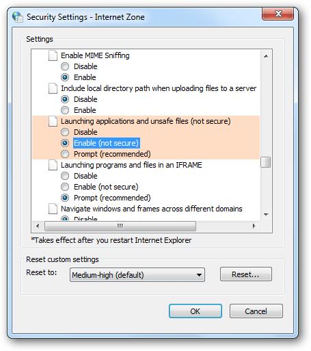 cảnh báo open file security warning