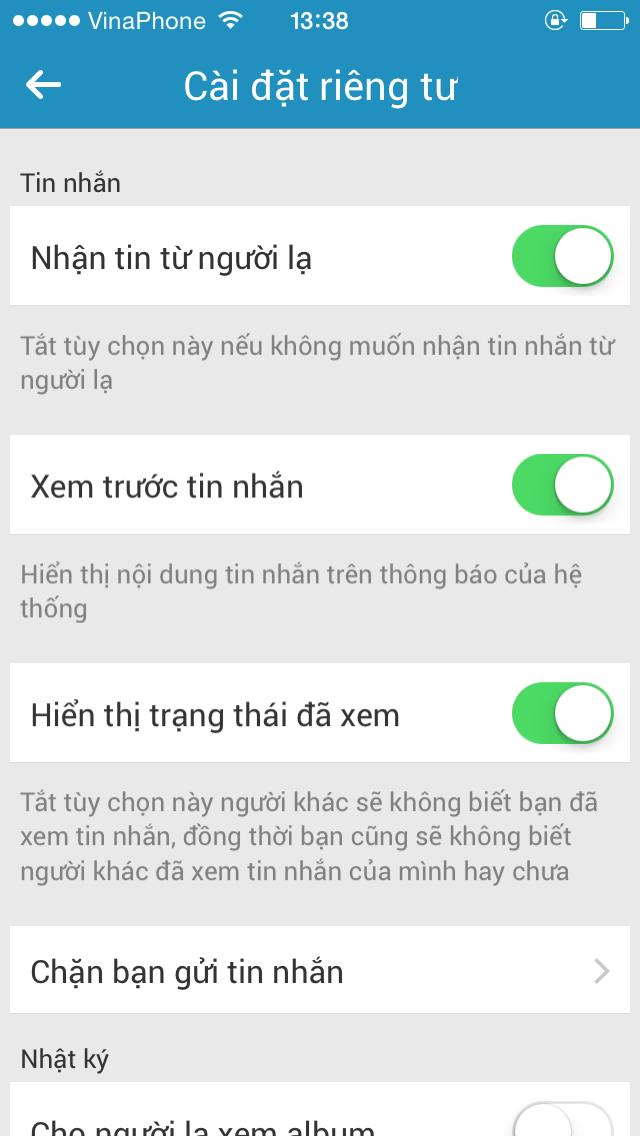 """Hướng dẫn xóa hiển thị """"đã xem"""" khi chat trên Facebook, Zalo, Viber-4"""