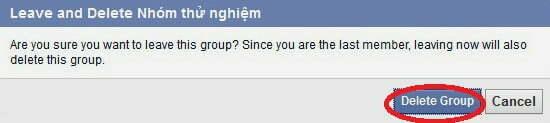 xóa groups trên facebook
