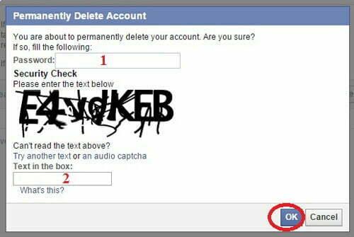 xóa tài khoản facebook cá nhân