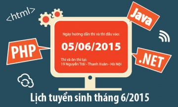 Lịch tuyển sinh tháng 6: 05/06/2015