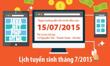 Read more about the article Lịch tuyển sinh tháng 7: 15/07/2015