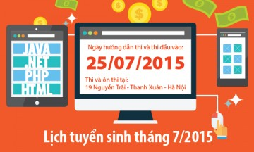 Read more about the article Lịch tuyển sinh tháng 7: 25/07/2015
