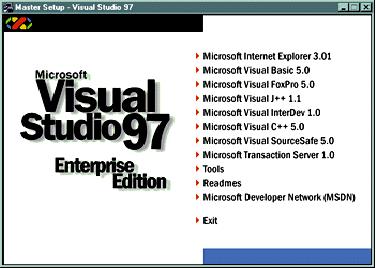 Visual studio 97