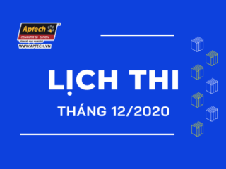Read more about the article HANOI-APTECH: LỊCH THI THÁNG 12/2020