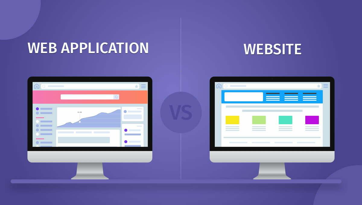 Sự khác biệt giữa Website và Web Application